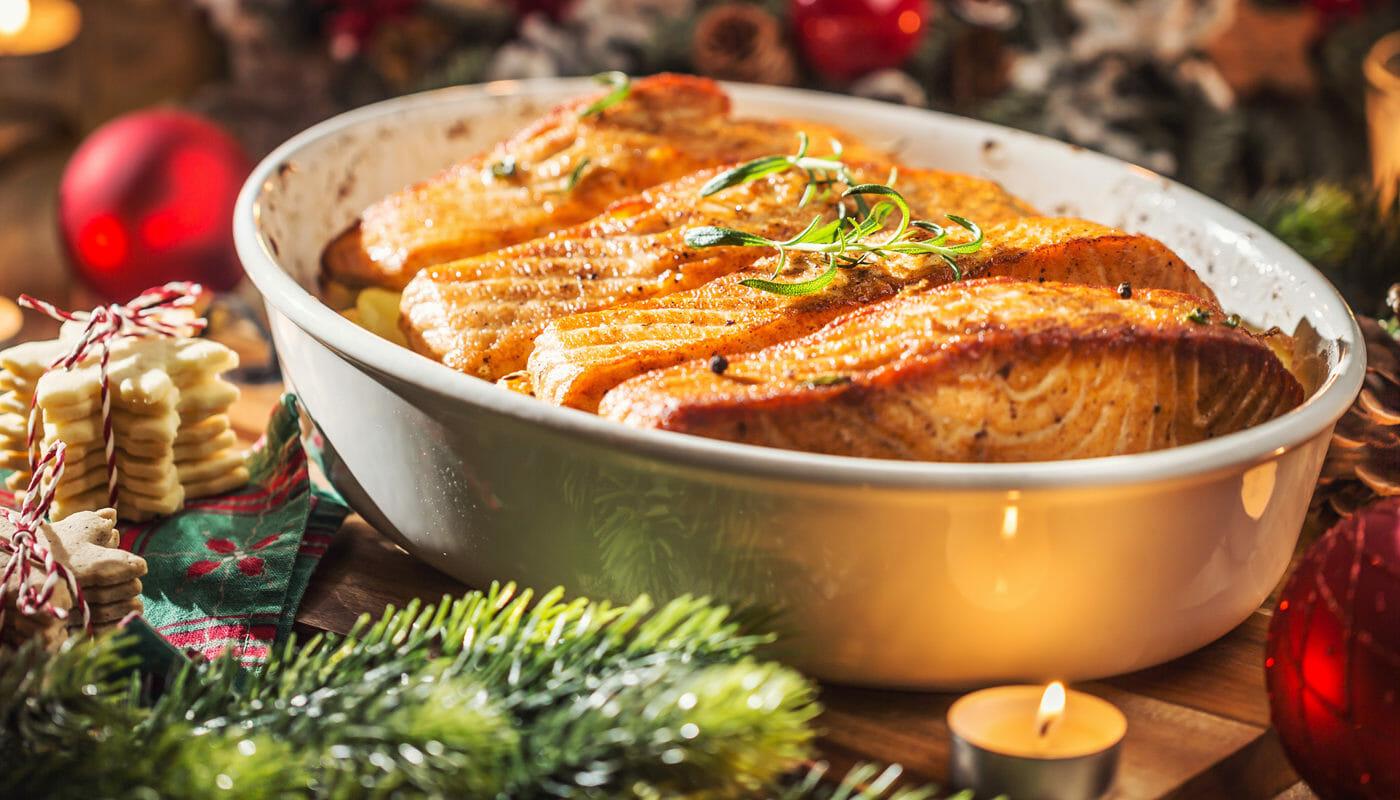 menú navideño bajo en calorías