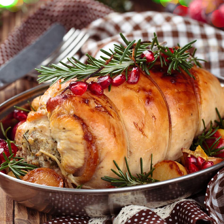 pechuga de pavo menú navideño bajo en calorías