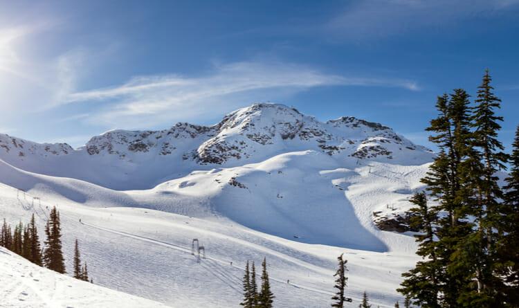Montaña para esquiar en Whistler