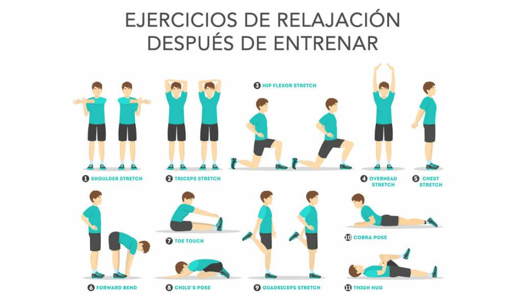 relajar los músculos después de hacer ejercicio