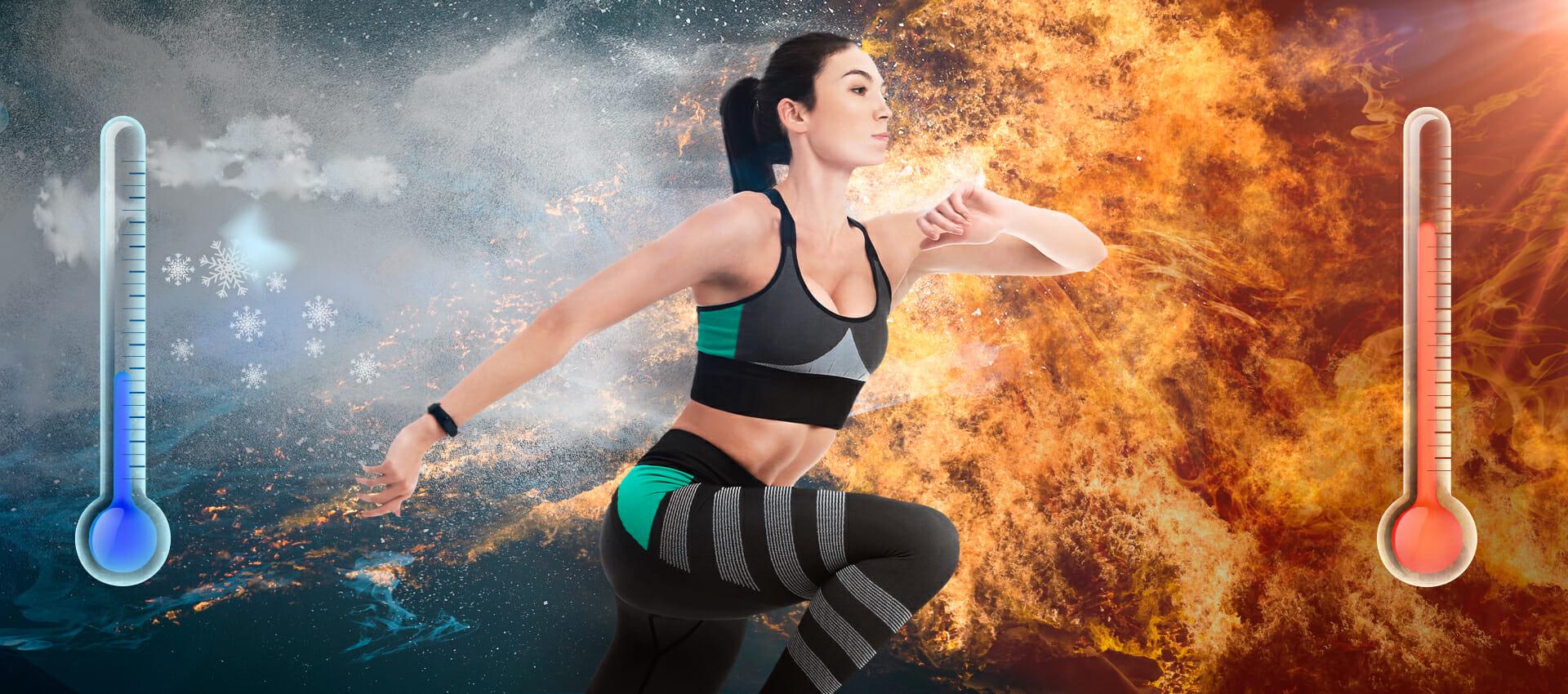 quema de calorías en frío o calor ejercicio