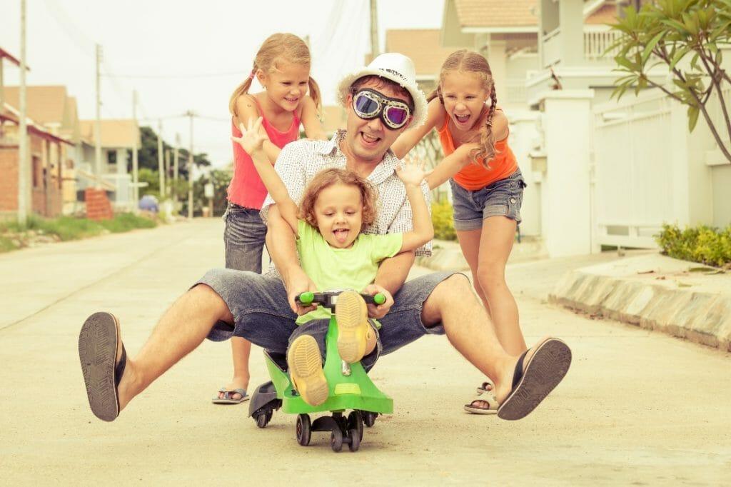 dinámica familiar ejercicio diversión