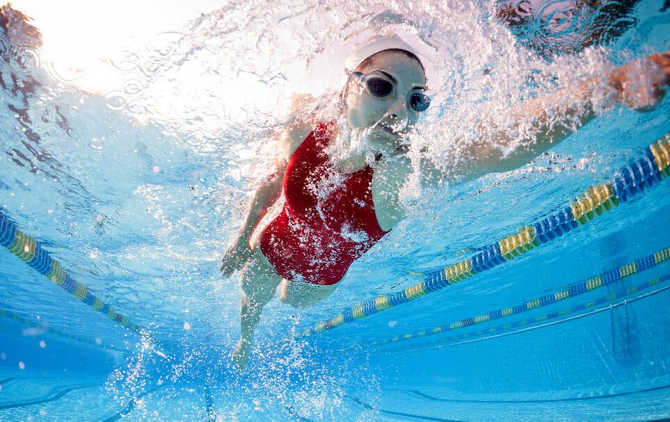deportes natación Liliana Ibáñez López y Nuria Diosdado